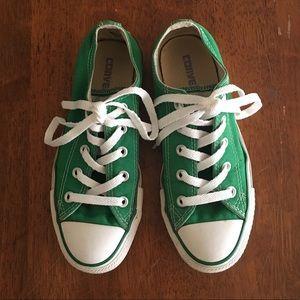 Green Converse  Women's 6  or  Men's 4